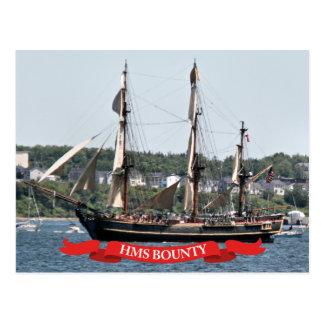 HMS Bounty Tall Ship Postcard