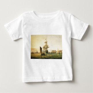 HMS Britannia entering Portsmouth, 1835 Baby T-Shirt