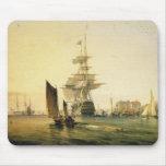 HMS Britannia entering Portsmouth, 1835 Mouse Pads