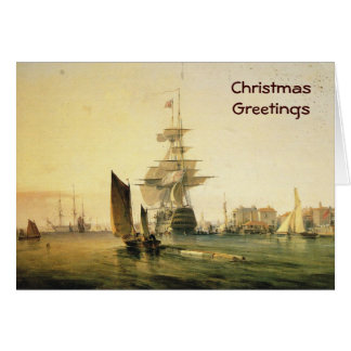 HMS Britannia que entra en Portsmouth, 1835 Tarjeta De Felicitación
