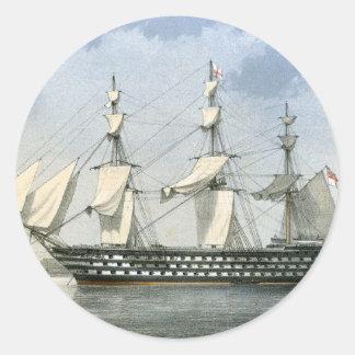HMS Duke of Wellington Round Stickers