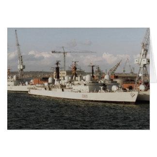 """HMS Exeter"""" en el astillero naval de Portsmouth, I Tarjeta De Felicitación"""