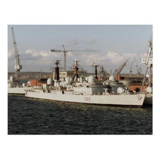 """HMS Exeter"""" en el astillero naval de Portsmouth, I Postales"""