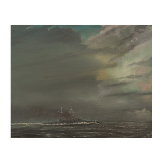 HMS Hood 1941 2014 Impresión En Madera