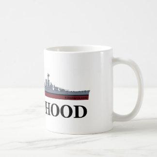 HMS Hood Classic White Coffee Mug