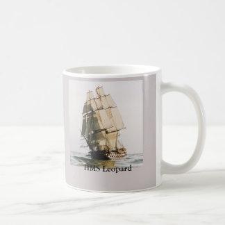 HMS Leopard Warship Coffee Mug