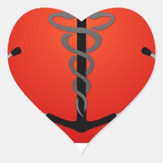 HMS Official Gear Heart Sticker