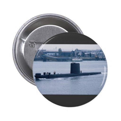 "HMS Osiris"" leaving Portsmouth Naval Base, Hampshi 2 Inch Round Button"