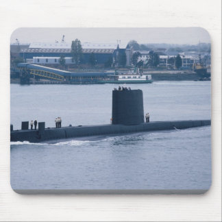 "HMS Osiris"" leaving Portsmouth Naval Base, Hampshi Mouse Pad"