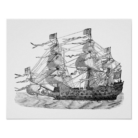HMS  Sovereign of the Seas Poster