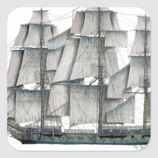 HMS Surprise 1796 Square Sticker