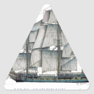 HMS Surprise 1796 Triangle Sticker