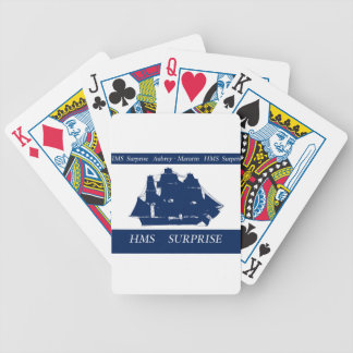 hms surprise, tony fernandes bicycle playing cards