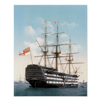 """HMS Victory 16"""" x 20"""" poster"""