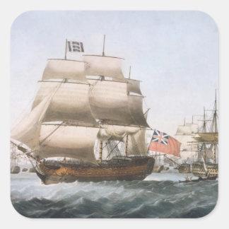 HMS Victory, 1806 Calcomanías Cuadradas Personalizadas