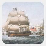 HMS Victory, 1806 Pegatina Cuadrada
