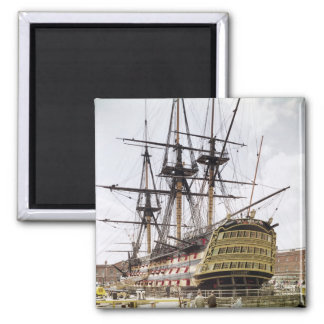 HMS Victory 2 Inch Square Magnet