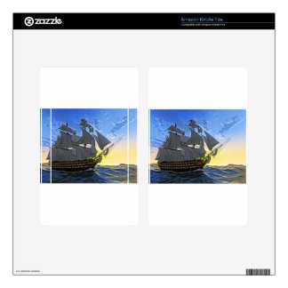 HMS Victory at Dawn Kindle Fire Skins
