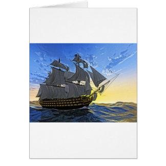 HMS Victory en el amanecer Tarjeta De Felicitación
