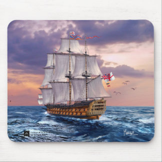 HMS Victory Flagship Painting Gift Mousepads