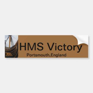 HMS VICTORY - PORTSMOUTH - BUQUE DE GUERRA DE REIN PEGATINA PARA AUTO