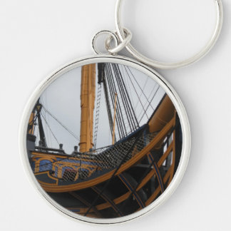 HMS VICTORY - PORTSMOUTH - UK - NELSON'S WARSHIP Silver-Colored ROUND KEYCHAIN