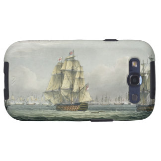 HMS Victory sailing for the French line flanked by Samsung Galaxy S3 Cover