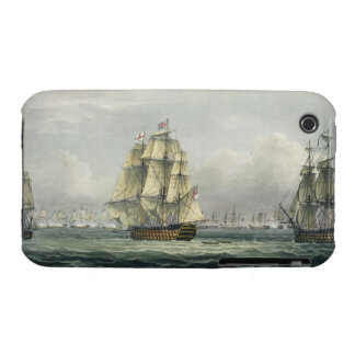 HMS Victory sailing for the French line flanked by iPhone 3 Case-Mate Case