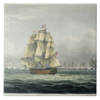 HMS Victory sailing for the French line flanked by Large Square Tile