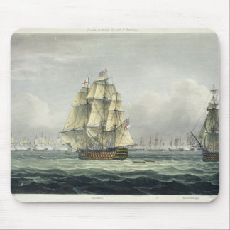 HMS Victory sailing for the French line flanked by Mouse Pad