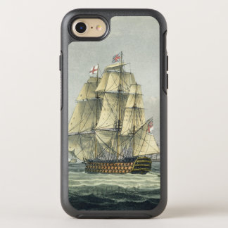 HMS Victory sailing for the French line flanked by OtterBox Symmetry iPhone 7 Case