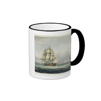 HMS Victory sailing for the French line flanked by Ringer Mug