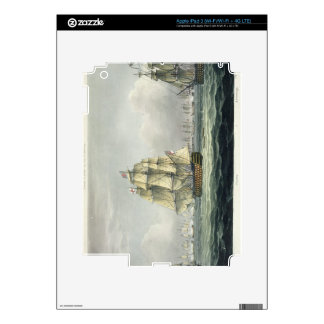 HMS Victory sailing for the French line flanked by Skins For iPad 3