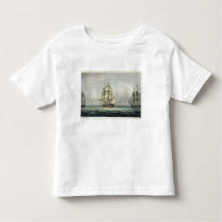 HMS Victory sailing for the French line flanked by Toddler T-shirt