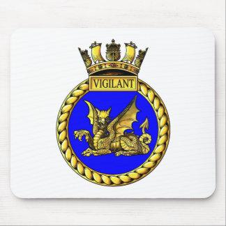 HMS Vigilant Crest Mousepad