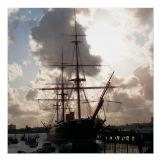 HMS Warrior ship Portsmouth England Poster
