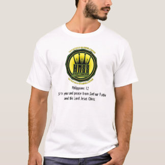 HMSS logo (2), Philippians 1:2Grace to you and ... T-Shirt