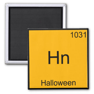 Hn - Halloween Funny Element Meme Chemistry Tee 2 Inch Square Magnet