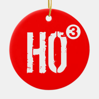 HO3 Cubed Santa Clause Christmas Tree Ornament