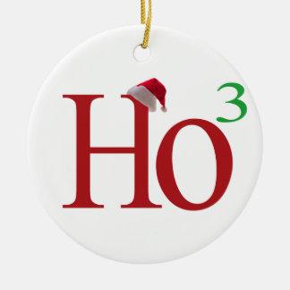 Ho3 (ho ho ho) adorno redondo de cerámica