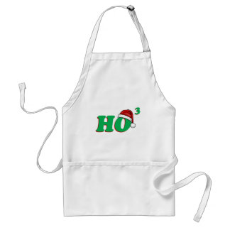 Ho 3 (Cubed) Christmas Humor Adult Apron