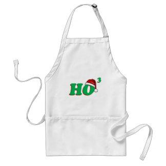 Ho 3 (Cubed) Christmas Humor Adult Apron