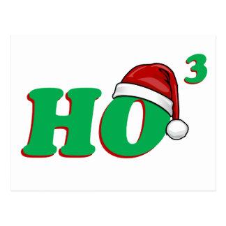 Ho 3 (Cubed) Christmas Humor Postcard