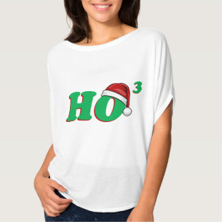 Ho 3 (Cubed) Funny Christmas Tee