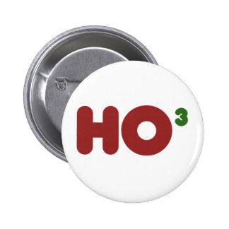 Ho 3 navidad divertido Nerdy Pin Redondo De 2 Pulgadas