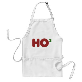 Ho 3 Nerdy Christmas Adult Apron