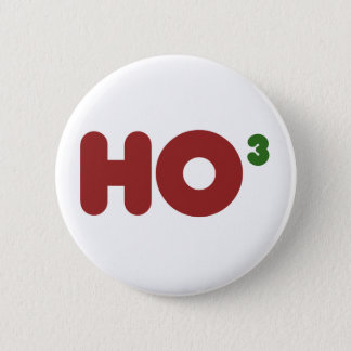 Ho 3 Nerdy funny christmas Button