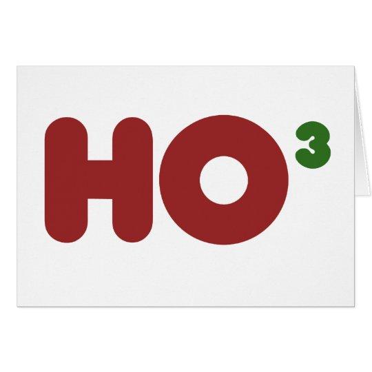 Ho 3 Nerdy funny christmas Card