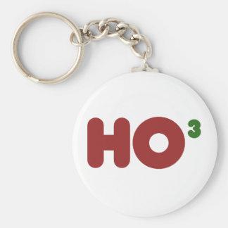 Ho 3 Nerdy funny christmas Keychain