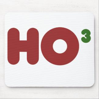 Ho 3 Nerdy funny christmas Mouse Pad
